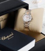 CHOPARD |  IMPERIALE, STAINLESS STEEL AND PINK GOLD WRISWATCH WITH MOTHER OF PEARL DIAL, DATE AND BRACELET, CIRCA 2015 [IMPÉRIALE, MONTRE EN ACIER ET OR ROSE AVEC CADRAN EN NACRE, DATE ET BRACELET]