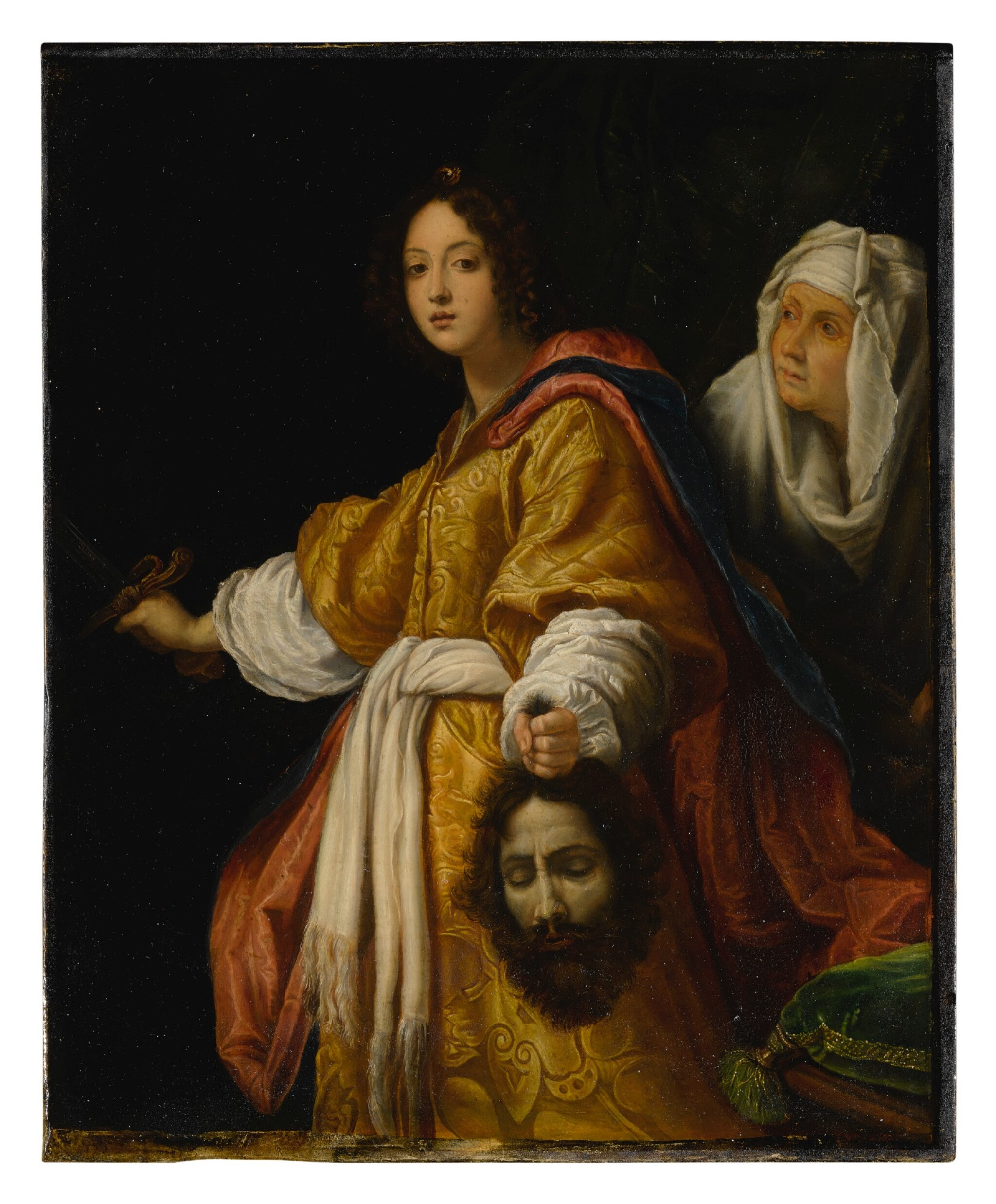 View full screen - View 1 of Lot 543. AFTER CRISTOFANO ALLORI | JUDITH WITH THE SEVERED HEAD OF HOLOFERNES.