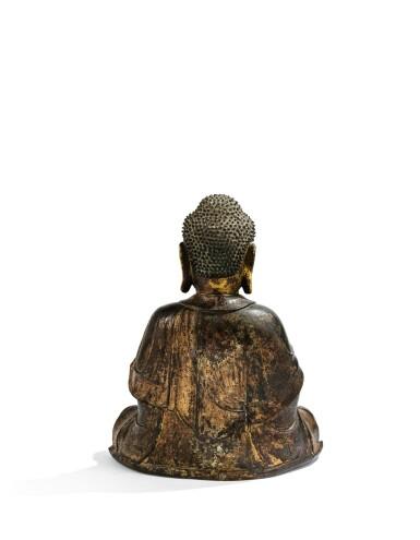 View 2. Thumbnail of Lot 347. A PARCEL-GILT BRONZE FIGURE OF AMITABHA   MING DYNASTY, 16TH/17TH CENTURY | 明十六 / 十七世紀 銅局部鎏金阿彌陀佛坐像.