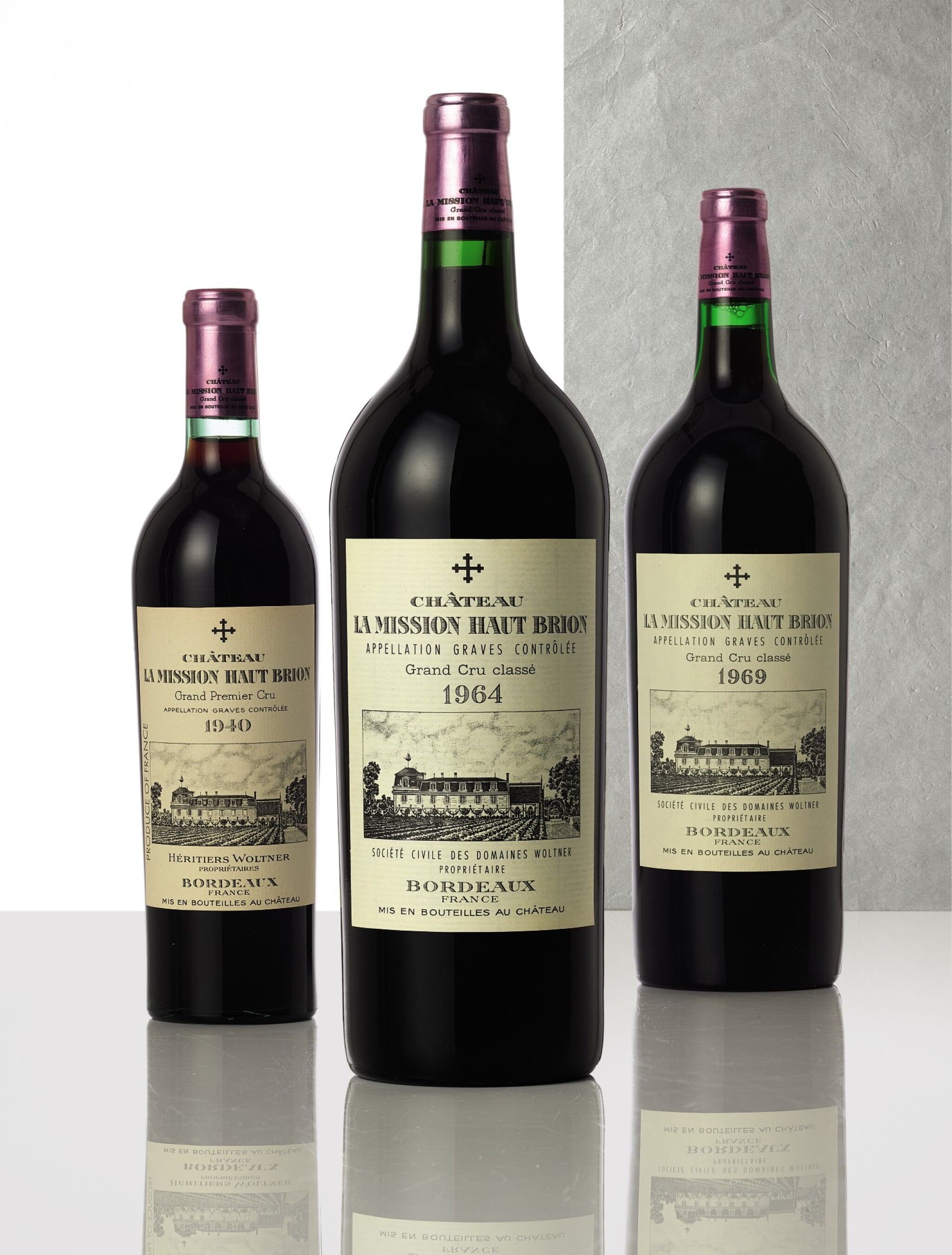 View full screen - View 1 of Lot 3348. Château La Mission Haut-Brion 1964  (3 MAG).