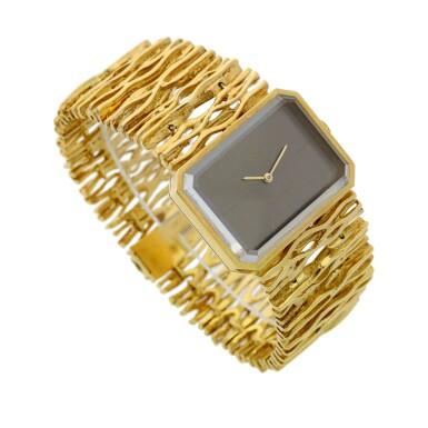 View 3. Thumbnail of Lot 65. Reference 8272 De Ville Designed by Gilbert Albert: A yellow gold rectangular bracelet watch, Circa 1965.
