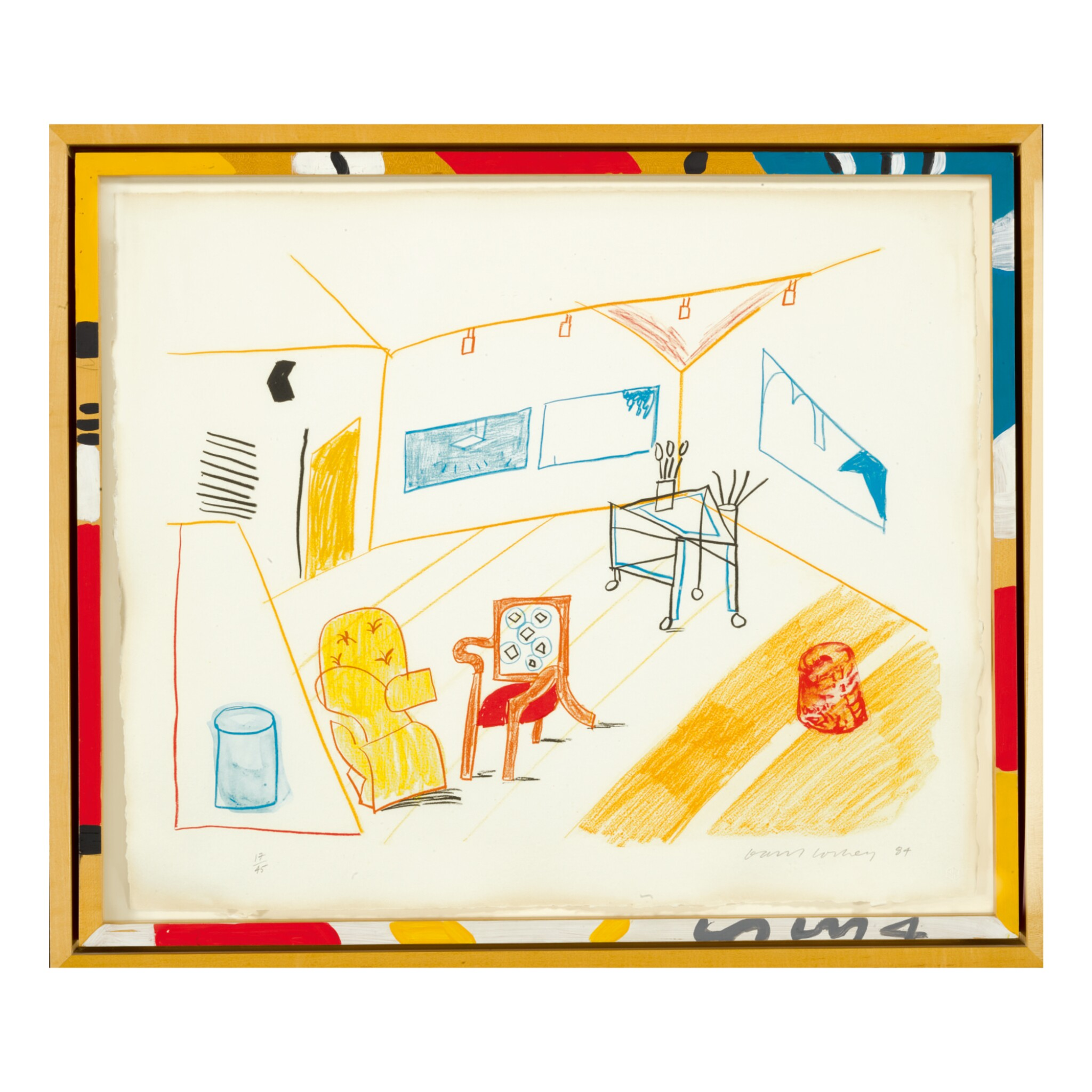 View full screen - View 1 of Lot 212.  DAVID HOCKNEY | CONVERSATION IN THE STUDIO (M.C.A.T. 260).