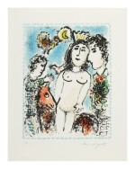 MARC CHAGALL   CROWNED NUDE (M. 1041)