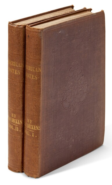 View 1. Thumbnail of Lot 82. Dickens, American Notes for General Circulation, 1842, first edition.