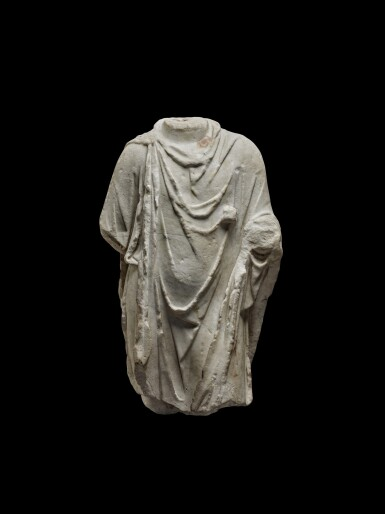 View 1. Thumbnail of Lot 77. A Roman Marble Torso of Hermanubis, circa 2nd Century A.D..