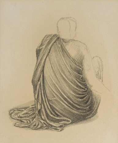 View 1. Thumbnail of Lot 36. SIR EDWARD COLEY BURNE-JONES, BT., A.R.A., R.W.S. | STUDY FOR THE LAST SLEEP OF ARTHUR IN AVALON.