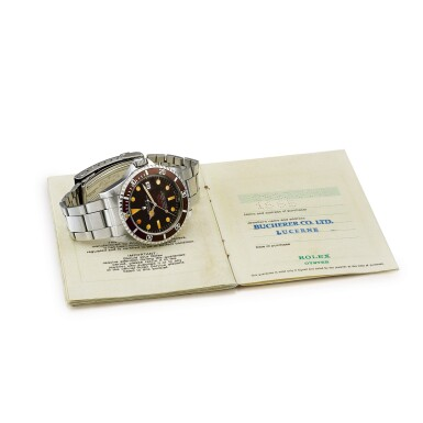 View 4. Thumbnail of Lot 2270. Rolex | 'Double Red' Sea-Dweller, Reference 1665, A stainless steel wristwatch with tropical dial, date and bracelet, Circa 1972 | 勞力士 | 'Double Red' Sea-Dweller 型號1665  精鋼鏈帶腕錶,備日期顯示及棕式錶盤,約1972年製.