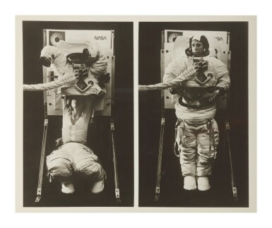 View 6. Thumbnail of Lot 8. [SPACESUIT TESTING]. ARCHIVE OF PHOTOGRAPHS DOCUMENTING SPACESUIT TESTING, CA 1958-1975.