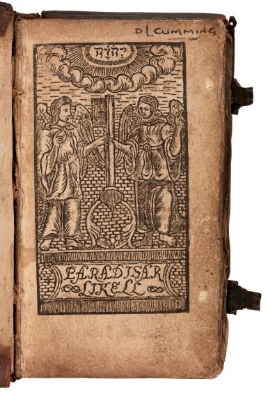 View 1. Thumbnail of Lot 182. Moller, Paradisar likell, Skálholt, 1686, contemporary Icelandic calf.