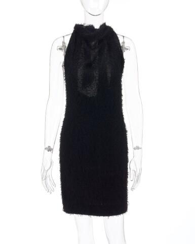 View 1. Thumbnail of Lot 181. Black open-back dress.