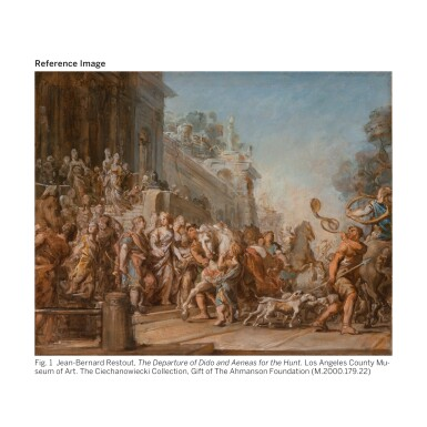 View 2. Thumbnail of Lot 118. JEAN-BERNARD RESTOUT | THE DEATH OF DIDO, A BOZZETTO.