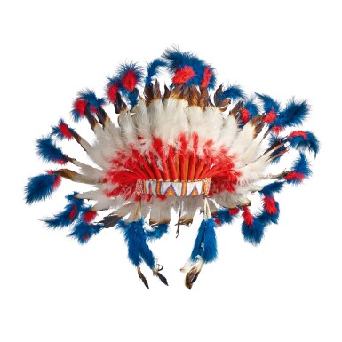 View 1. Thumbnail of Lot 86. [THE VILLAGE PEOPLE] | NATIVE AMERICAN HEADDRESS WORN BY FELIPE ROSE.