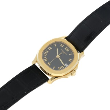 View 6. Thumbnail of Lot 20. REFERENCE 5060 AQUANAUT A YELLOW GOLD AUTOMATIC WRISTWATCH WITH DATE, MADE IN 1996.