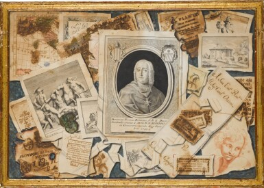 View 4. Thumbnail of Lot 35. TOMMASO CHIUSO |  A SET OF THREE TROMPE L'OEIL COMPOSITIONS.