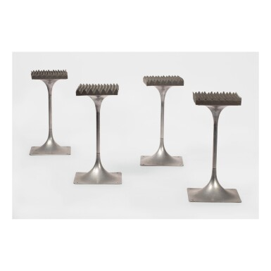 "ROGER TALLON | SET OF FOUR STOOLS FROM THE ""MODULE 400"" SERIES"