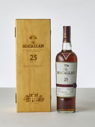 View 1. Thumbnail of Lot 2024. Macallan, 25 Year Old Sherry Cask NV (1 BT70).