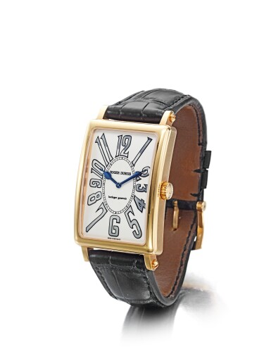 ROGER DUBUIS MUCH MORE | A PINK GOLD LIMITED EDITION RECTANGULAR WRISTWATCH CIRCA 2000