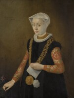 FRENCH SCHOOL, CIRCA 1600 | Portrait of a lady, sold together with a portrait medal of Henry IV and his wife Marie de Medici