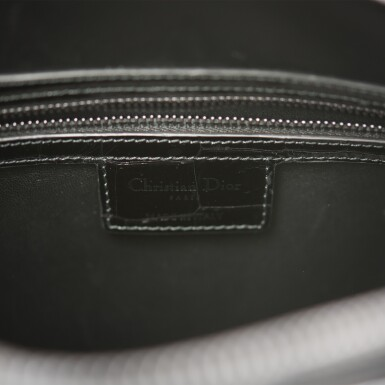 View 8. Thumbnail of Lot 105. CHRISTIAN DIOR    BLACK SHINY NILOTICUS CROCODILE LARGE LADY DIOR BAG WITH RUTHENIUM HARDWARE.
