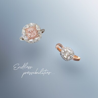 View 2. Thumbnail of Lot 27. A 1.01 Carat Fancy Pink-Purple Cushion-Cut Diamond, SI1 Clarity.