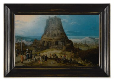 View 3. Thumbnail of Lot 104. HENDRIK VAN CLEVE III     THE BUILDING OF THE TOWER OF BABEL (GENESIS 11: 3-5).