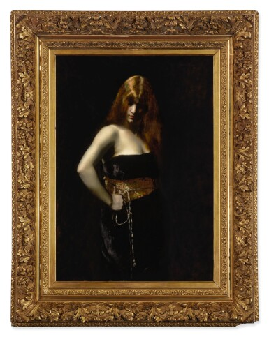 View 2. Thumbnail of Lot 6. JUANA ROMANI | PORTRAIT OF A WOMAN WITH RED HAIR.