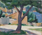 Tree and Houses on the French Riviera