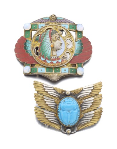 View 1. Thumbnail of Lot 32. TWO BELT BUCKLES | PIEL FRÈRES,  CIRCA 1905.