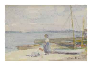 View 1. Thumbnail of Lot 487. PAULINE PALMER | ON THE BEACH (PROVINCETOWN, MASSACHUSETTS).