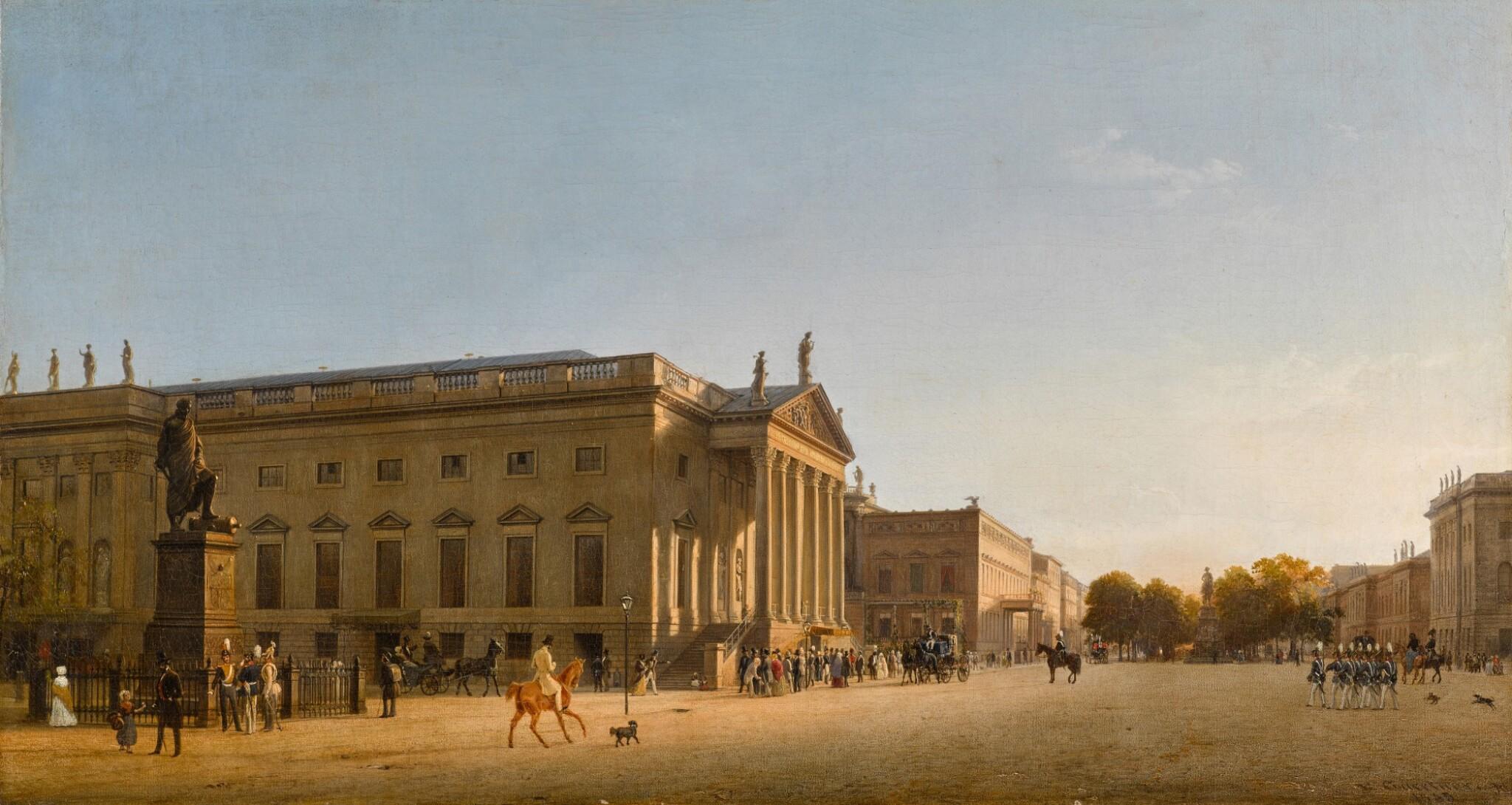 View 1 of Lot 72. Die königliche Oper unter den Linden (The Royal Opera, Unter den Linden, Berlin).