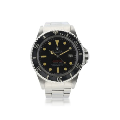 View 1. Thumbnail of Lot 6. ROLEX | REFERENCE 1665 DOUBLE RED SEA-DWELLER  A STAINLESS STEEL AUTOMATIC WRISTWATCH WITH DATE AND BRACELET, CIRCA 1971.