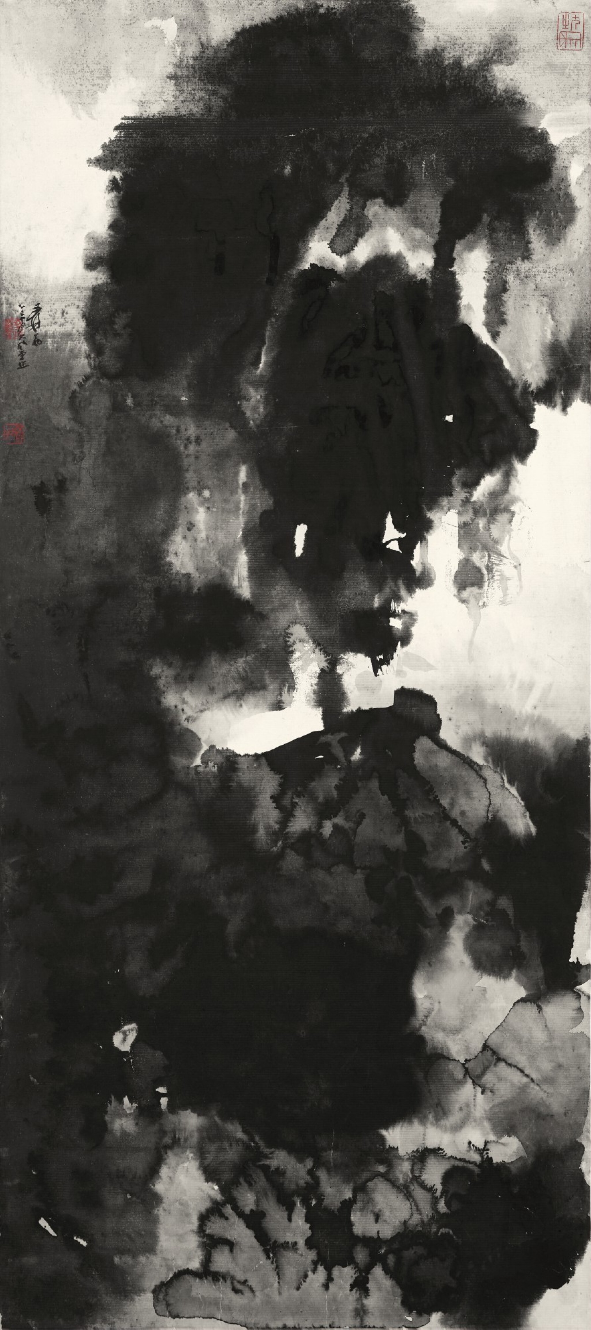 View full screen - View 1 of Lot 2666. Zhang Daqian (Chang Dai-chien, 1899-1983) 張大千 (1899-1983)   Majestic Mountains in Cloudy Mist 無象之象.