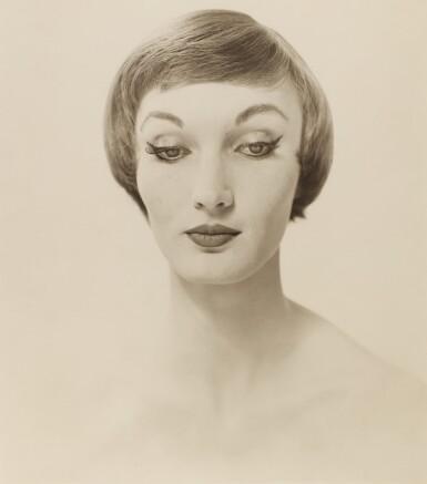 ERWIN BLUMENFELD    EVELYN TRIPP, FASHION PORTRAIT, C. 1950