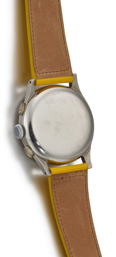 View 3. Thumbnail of Lot 120. OMEGA | REFERENCE 987 A STAINLESS STEEL CHRONOGRAPH WRISTWATCH, CIRCA 1948.