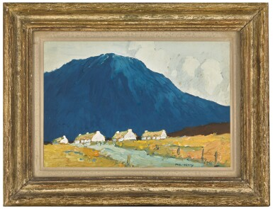 View 2. Thumbnail of Lot 7. PAUL HENRY, R.H.A., R.U.A. | COTTAGES BY A STREAM .