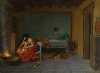 The Story of Anacreon (Four Works): Cupid at the Door in a Rainstorm; Young Love's Shivering Limbs the Embers Warm; Cupid Runs out the Door; The Poet Dreams of Cupid by the Fire