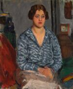 RODERIC O'CONOR   PORTRAIT OF A SEATED WOMAN (LE CORSAGE BLEU)