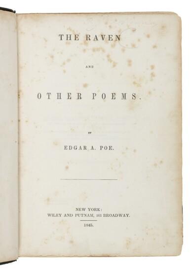 "View 1. Thumbnail of Lot 111. Poe, Edgar Allan   The ""marrow of Poe""."