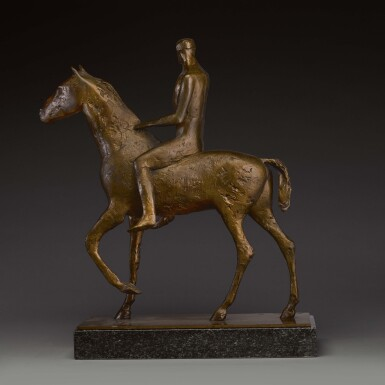 View 4. Thumbnail of Lot 701. DAME ELISABETH FRINK, R.A. | HORSE AND RIDER.