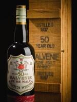 BALVENIE ORIGINAL BOTTLING  50 YEAR OLD 42.0 ABV 1937