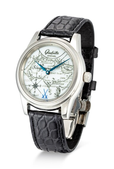 View 2. Thumbnail of Lot 103. GLASHÜTTE   KLASSIK, REFERENCE 49.08.02.02.06 A LIMITED EDITION STAINLESS STEEL WRISTWATCH WITH PORCELAIN DIAL, CIRCA 2005.