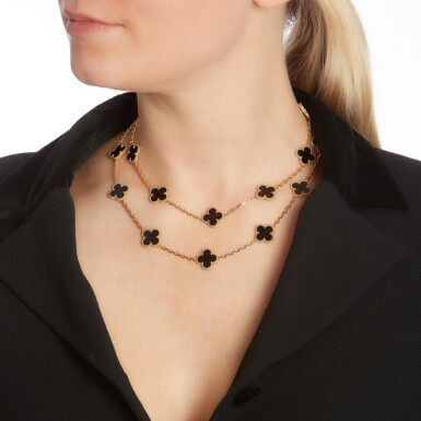 View 4. Thumbnail of Lot 144. Onyx necklace, 'Alhambra'.