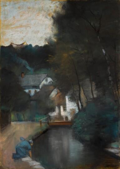 View 1. Thumbnail of Lot 48. LESSER URY   WASSERMÜHLE AM GEBIRGSBACH, THÜRINGEN (WATERMILL ON A MOUNTAIN STREAM, THURINGIA).