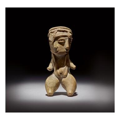 TLATILCO DOUBLE-FACE FEMALE FIGURE, TYPE D1 EARLY PRECLASSIC, CIRCA 1200-900 BC