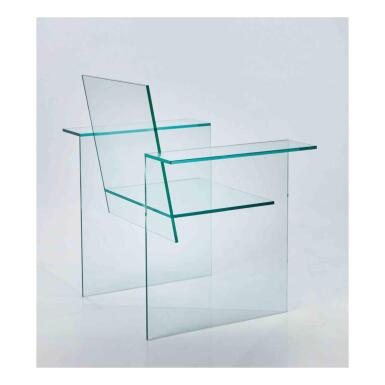 View 1. Thumbnail of Lot 164. Glass Chair.