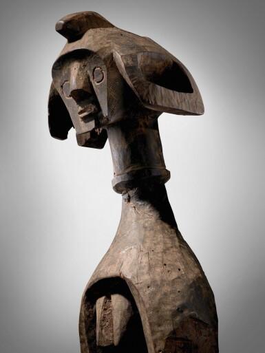View 3. Thumbnail of Lot 68. Mumuye Statue, Nigeria.