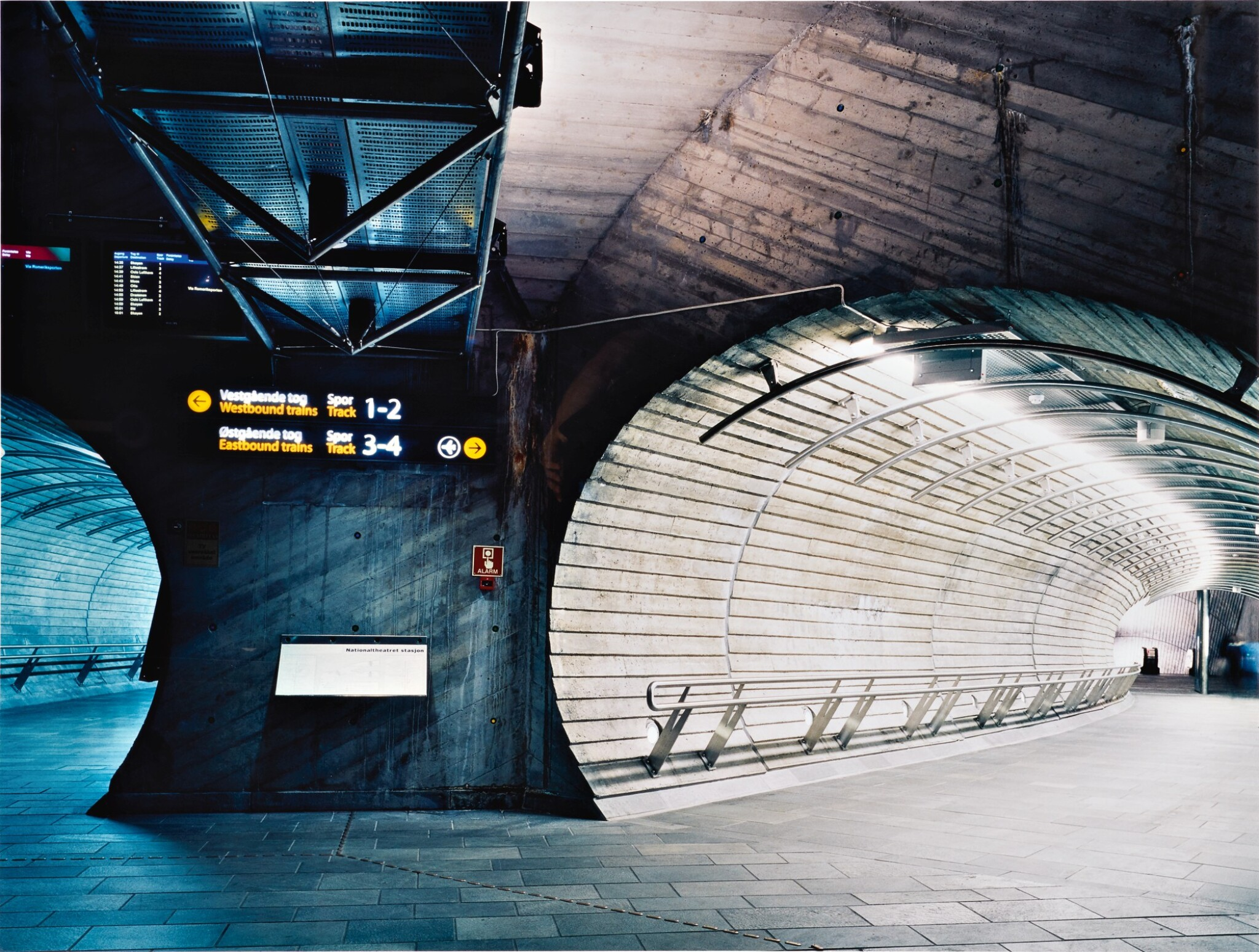 View full screen - View 1 of Lot 77. CANDIDA HÖFER | 'U-BAHNSTATION THEATERPLATZ OSLO III'.