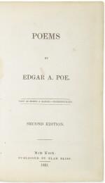 POE, EDGAR ALLAN | Poems. New York: Elam Bliss, 1831