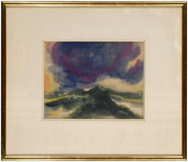 View 2. Thumbnail of Lot 21. Landschaft unter einer grossen, blauen Wolke (Landscape under a Big Blue Cloud) .