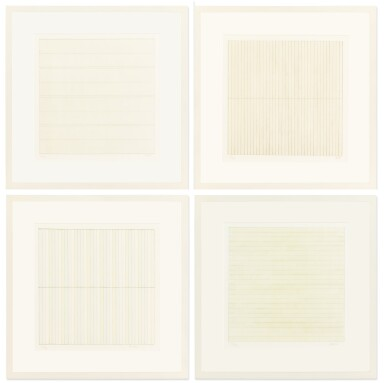 View 2. Thumbnail of Lot 63. AGNES MARTIN    UNTITLED.